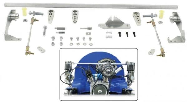 Gestänge Doppelvergaser Weber ICT Bild 1