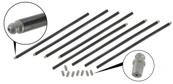 Stößelstangen Chrommolybdän-Stahl Hochleistungs-Schubstangen Bild 1