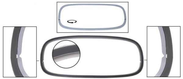 Heckscheibenrahmen Kunstoffeinsatz Cabrio Bild 1