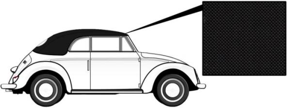 Cabrio Verdeck Vinyl schwarz 1303 8/72» Bild 1