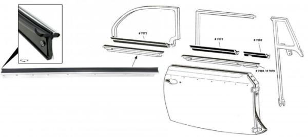 Fensterdichtung hinten rechts außen mit Zierleiste Cabrio Bild 1
