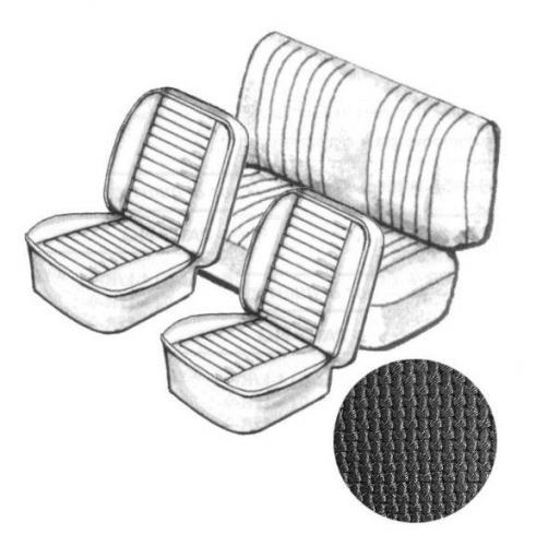 Cabrio Sitzbezug Set schwarz ohne Kopfteil grobmaschig 8/76» Bild 1