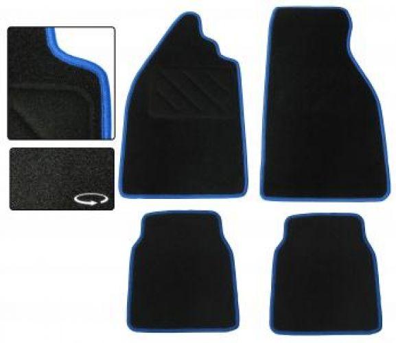 Fußmatten Set Teppich schwarz / blau Bild 1