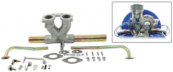 Ansaugstutzen Aluminium Weber IDF / Dellorto DRLA  Bild 1