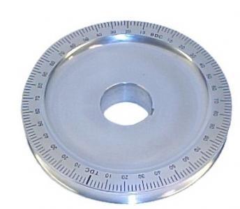 Riemenscheibe mit Gradeinteilung Aluminium Bild 1