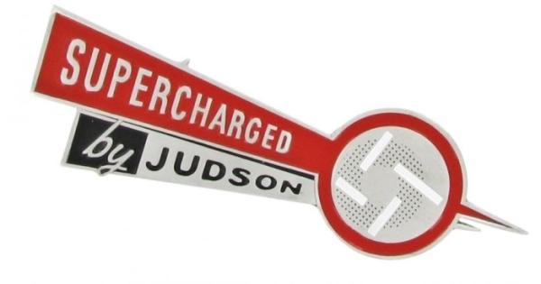 Abzeichen Armaturenbrett Supercharged by Judson groß Bild 1