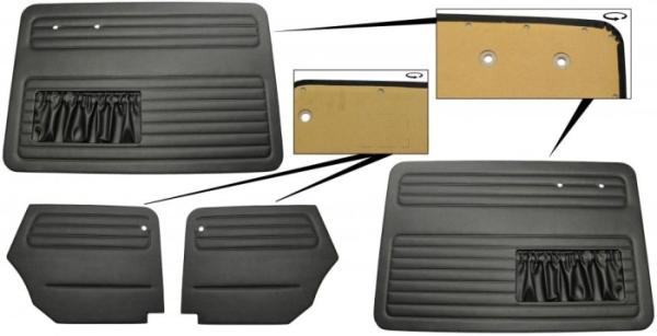 Türverkleidung Cabrio schwarz komplett mit Taschen Bild 1