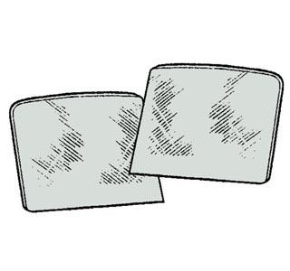 Türscheibe grau getönt Bild 1