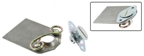 DZUS Verschluss-System auf Montageplatte Bild 1