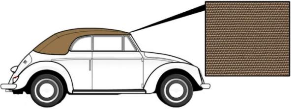 Cabrio Verdeck Canvas beige 1303 8/72» Bild 1