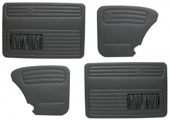 Türverkleidung Limousine schwarz komplett mit Taschen B-Qualität