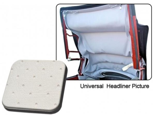 Cabrio Innenhimmel / Dachhimmel weiß mit Perforation Vinyl Bild 1