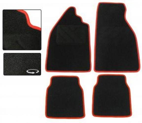 Fußmatten Set Teppich schwarz / rot Bild 1