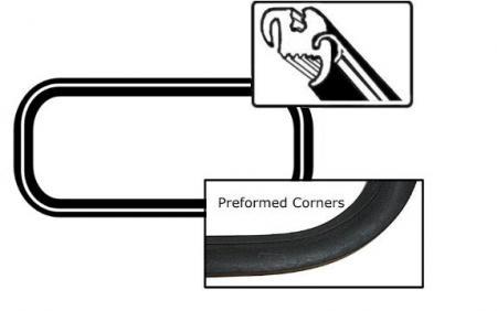 Dichtung Heckscheibe Deluxe mit Zierleisten Profil Cabrio Bild 1