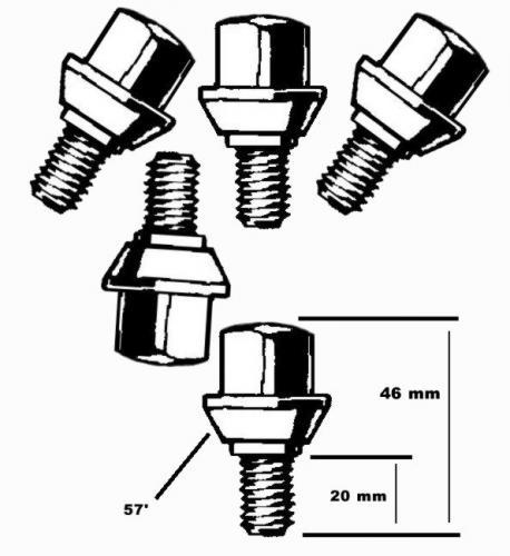 Radschrauben M12 x 1.5 Standard verchromt Bild 1