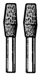 Türsicherungsknopf schwarz Bild 1