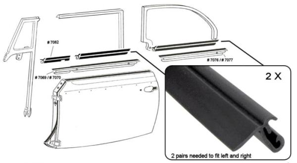 Fensterdichtungen vorne / hinten / innen ohne Zierleiste Cabrio Bild 1