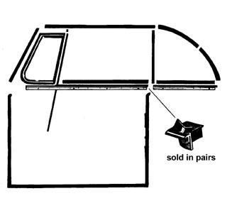 Abschluss Fensterdichtungen hinter Fenster vorne Cabrio Bild 1