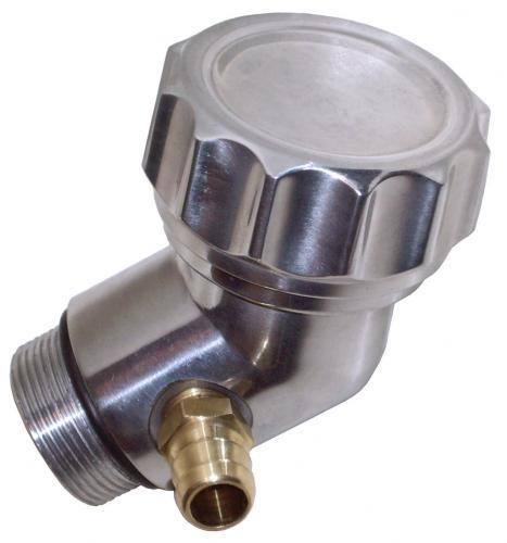 Öleinfüllstutzen belüftet Aluminium 45 Grad Bild 1
