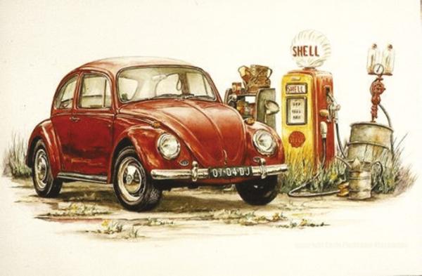 Lithographie / Bild VW Käfer 1966 Bild 1