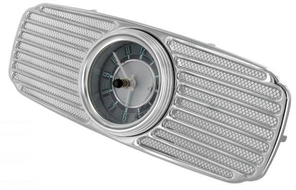 Lautsprechergitter Chrom mit Uhr