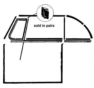 Abschluss Fensterdichtungen Dreieckfenster Cabrio Bild 1