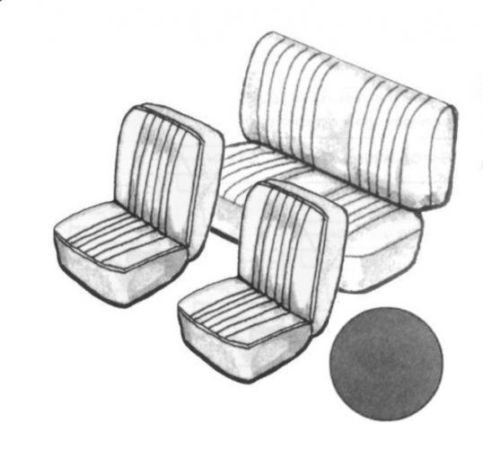 Cabrio Sitzbezug Set schwarz ohne Kopfteil glatt »7/55 Bild 1