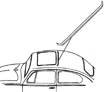 Dichtung Schiebedach hinten Bild 1