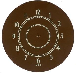 Uhrscheibe Aufkleber Bild 1