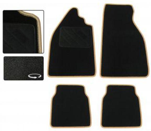 Fußmatten Set Teppich schwarz / beige Bild 1