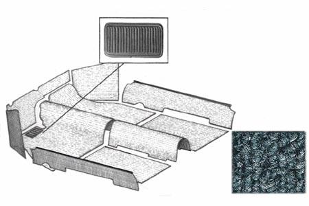 Innenraum Teppich Set grau Bild 1
